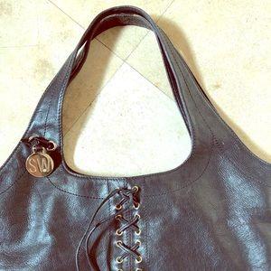 Stuart Weitzman black leather purse